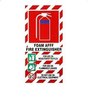 AFFF Fire Extinguisher Sign