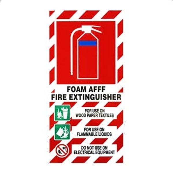 AFFF Fire Extinguisher Sign