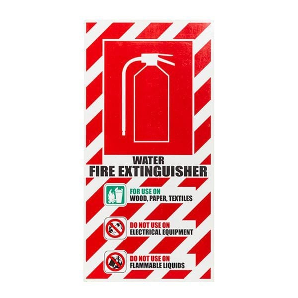 H2O Fire Extinguisher Sign