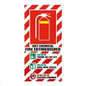 NZ Wet Chemical Fire Extinguisher Sign