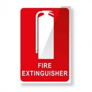 Vehicle Extinguisher Location Sticker