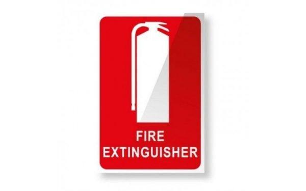 Vehicle Extinguisher Location Sticker
